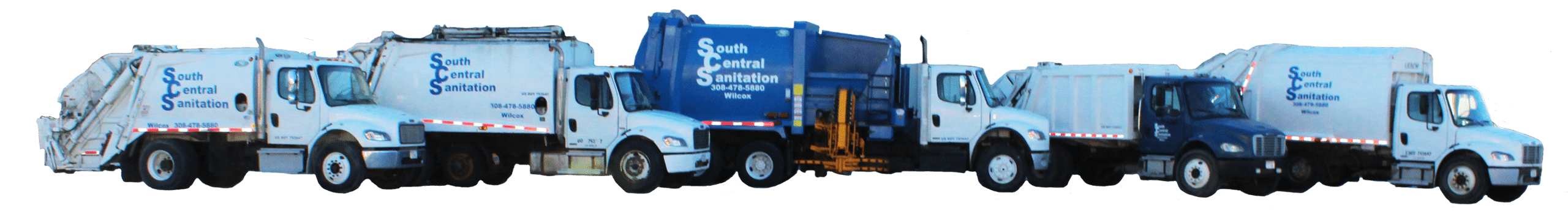 South Central Sanitation garbage trucks